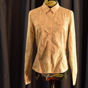 Halogen Long Sleeved Button Down Tan S